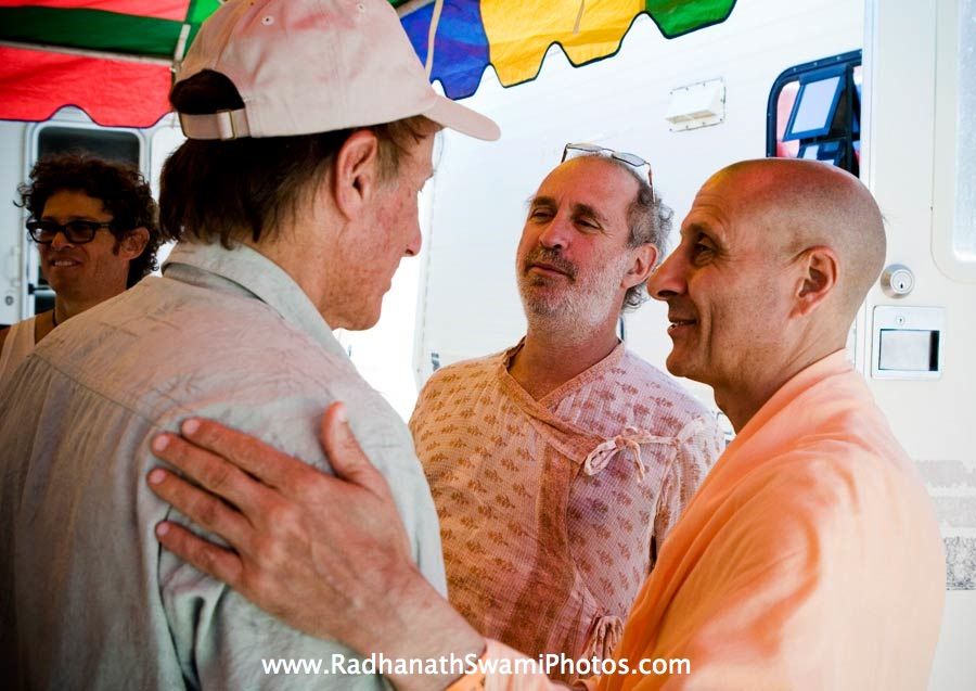Radhanath Swami with Sridhar and Shyamdas