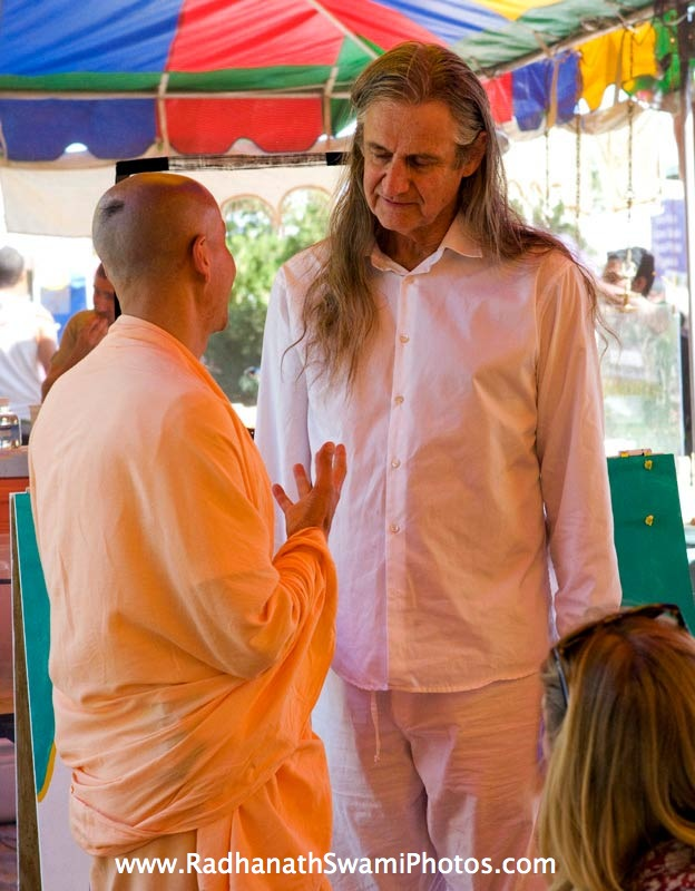 Radhanath Swami with Mark Whitwell