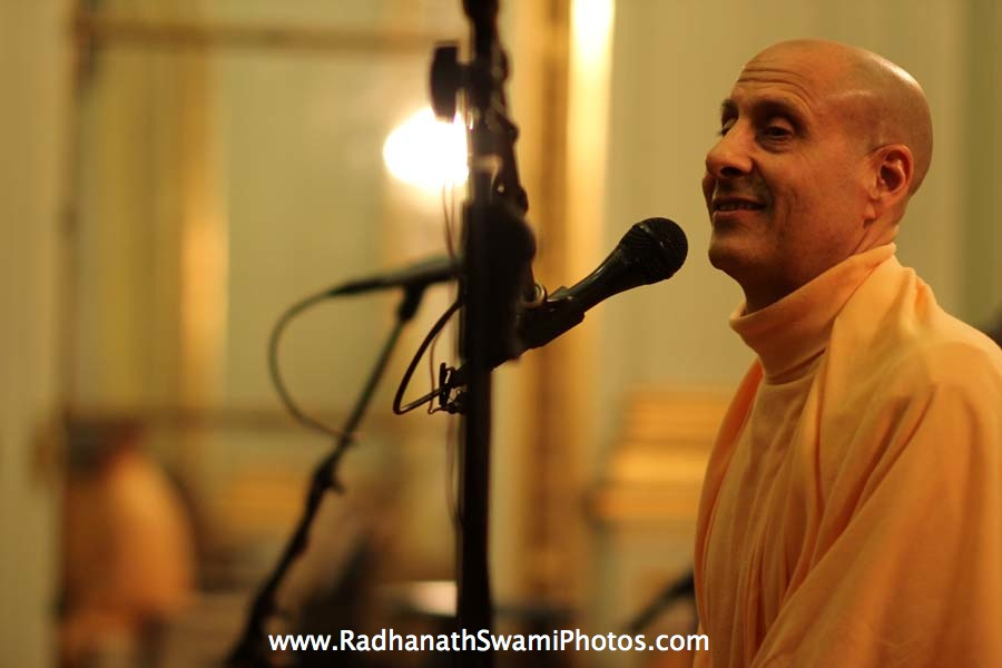 Talk by HH Radhanath Swami at Elkins Estate