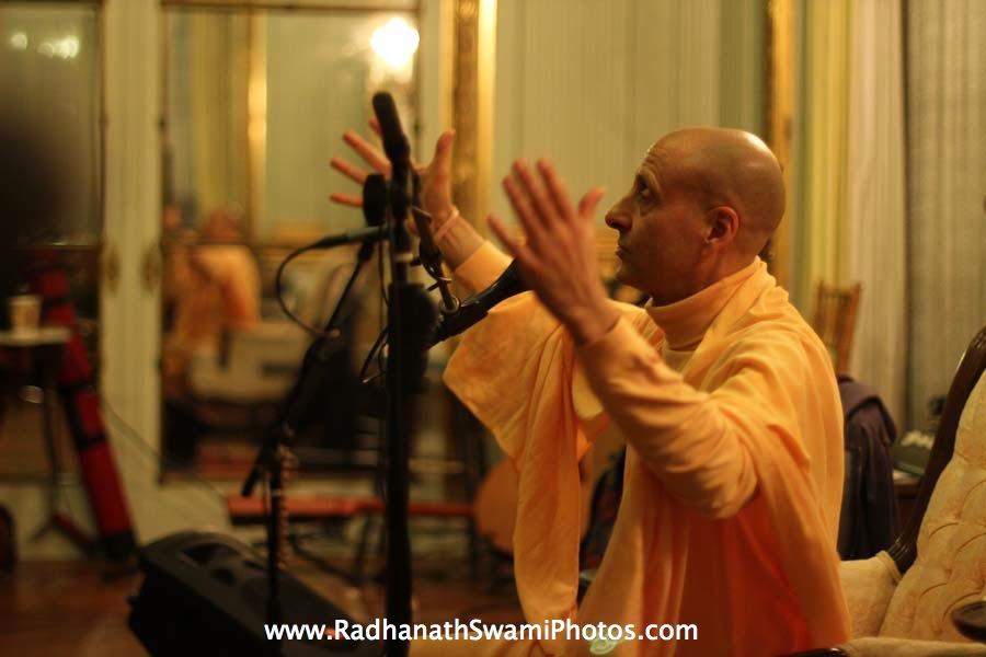 Swami Radhanath at Elkins Estate, Philadelphia