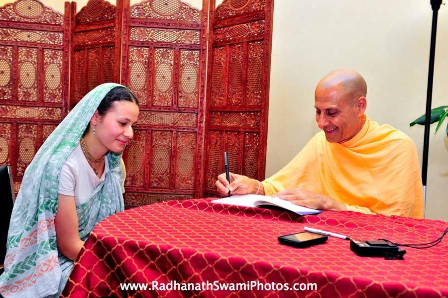 Kumari Gopi Mataji with Radhanath Swami