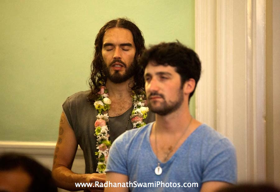 Actor Russell Brand at Kirtan London