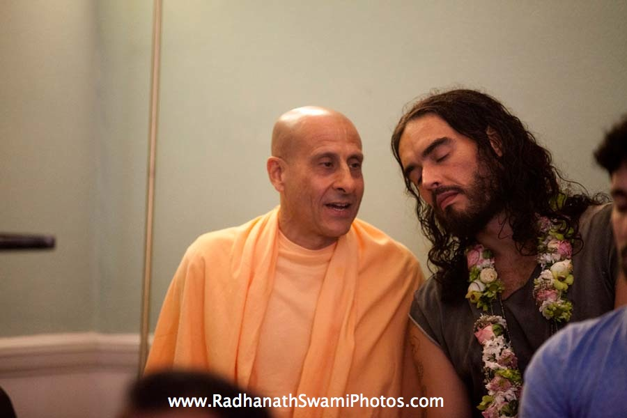 Radhanath Swami with Actor Russell Brand