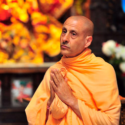 Radhanath Swami's Visit to New Dwarka Temple
