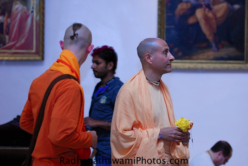 Radhanath Swami in Los Angeles Temple