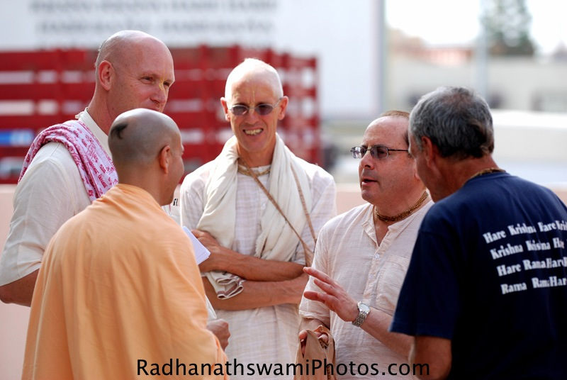 Radhanath Swami with Devotees