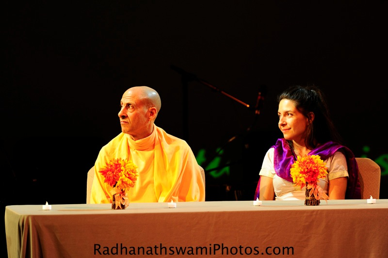 Radhanath swami at Dance to the source of Love Event