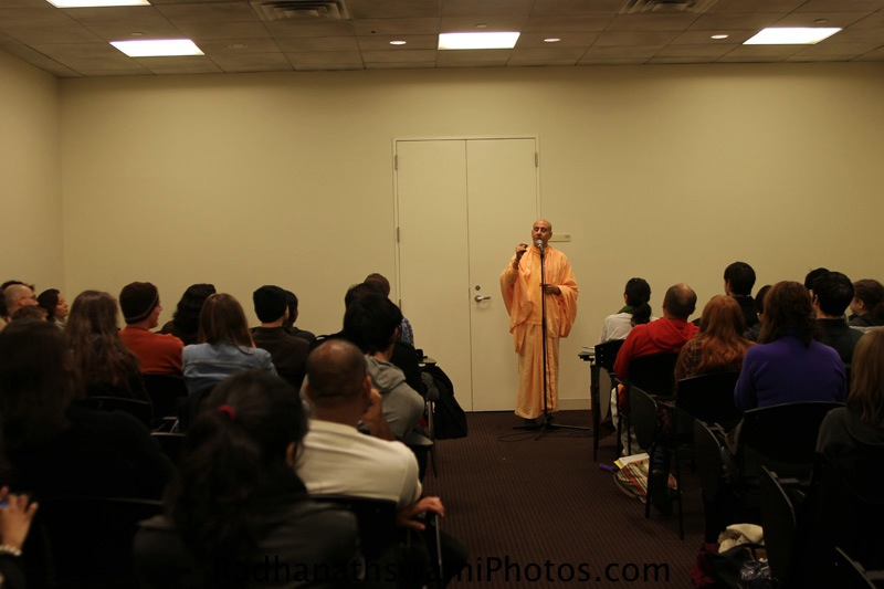 Talk By HH Radhanath Swamy at New York University