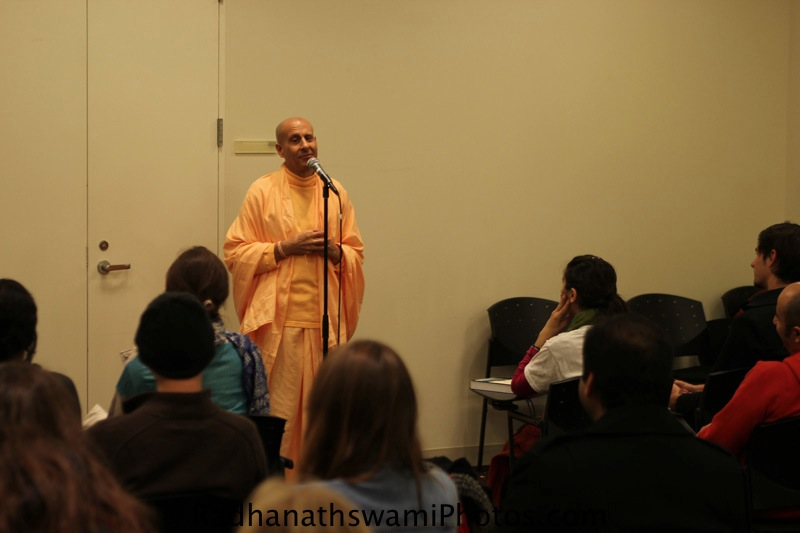 Talk By Swami Radhanath at New York University