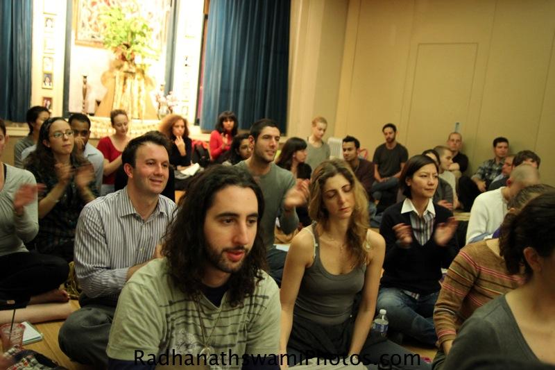 Guests at jivamukti Yoga studio