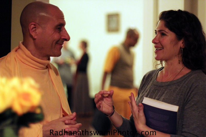 Radhanatha Swami meeting Guests