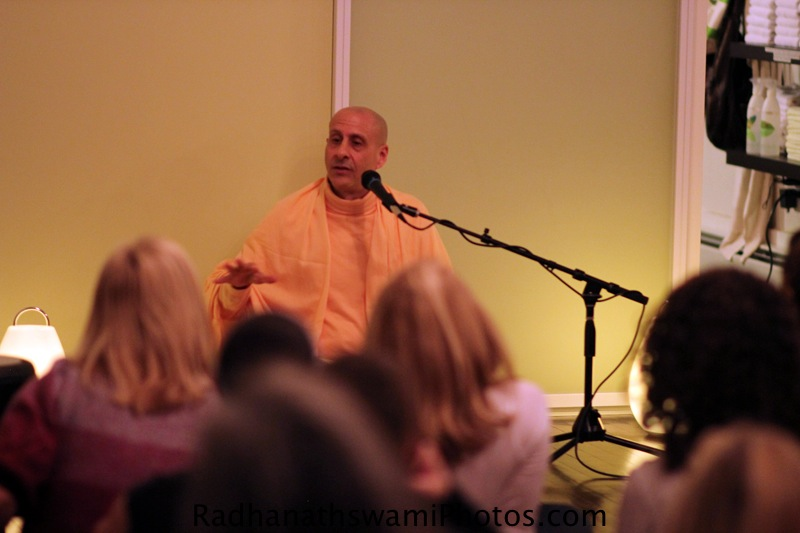 Talk by HH Radhanatha Swami at Baker Street Yoga Center