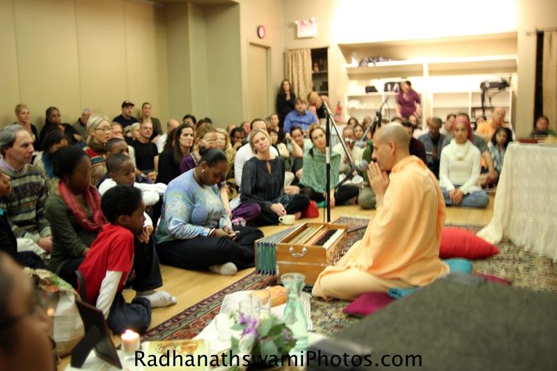 Talk by Radhanath Swami at jivamukti yoga center