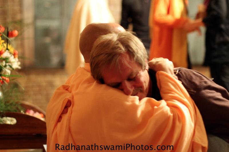 Radhanath Swami with a Devotee