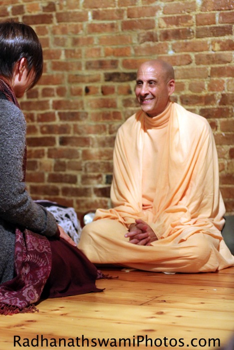 Radhanath swami in New York
