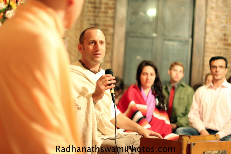 Raghunath Prabhu with HH Radhanath Swami