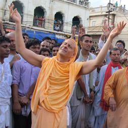 Radhanath Swami at Jagannath Rath Yatra, Puri