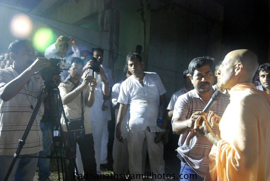 Radhanath Swami giving media Interview