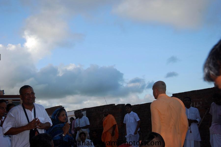 Radhanath Swami in Puri, India