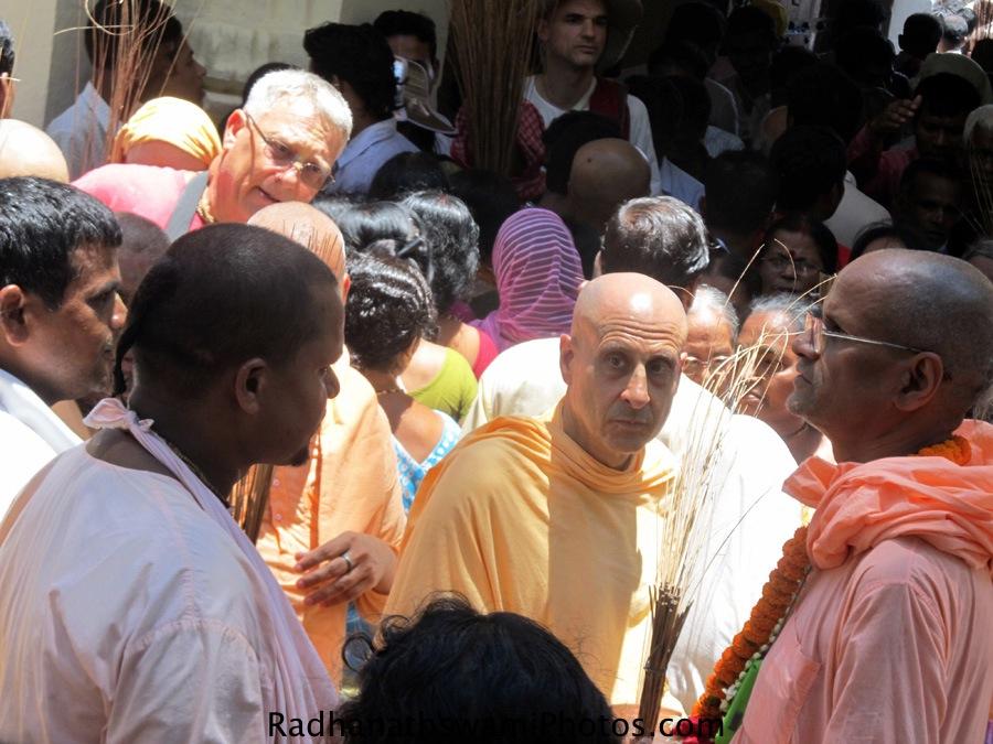 Radhanath Swami with Bhakti Purushottam Swami