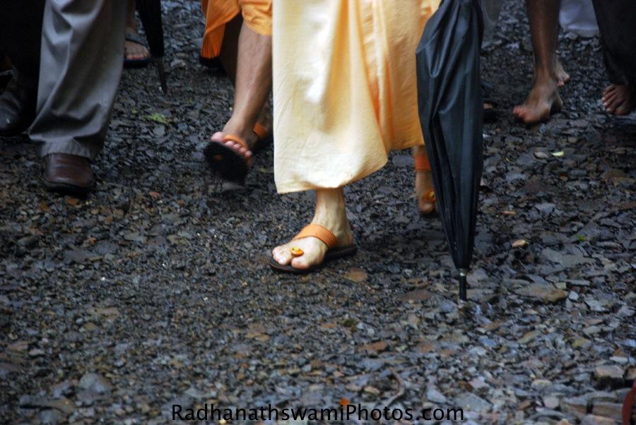 Radhanath Swami Visiting Govardhan Ecovillage