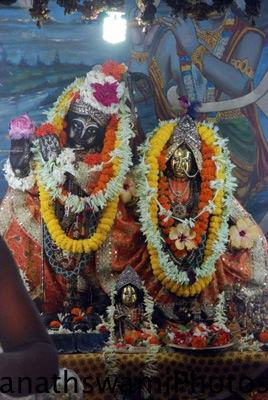 Deities at Srila prabhupada's birth place