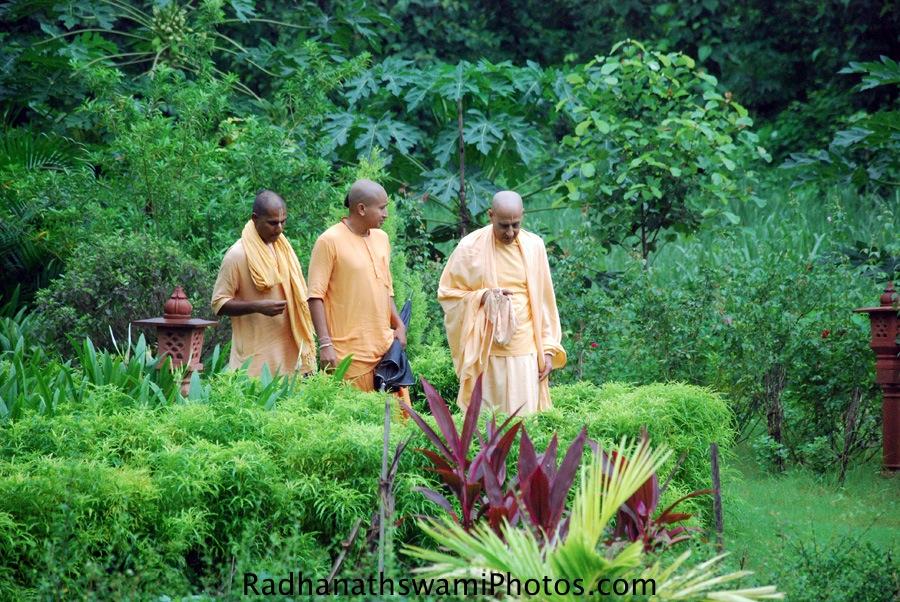 Radhanath Swami Maharaj visiting GEV