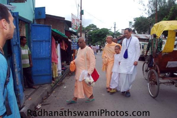 Radhanath Swami visiting Srila Prabhupada's Birth Place