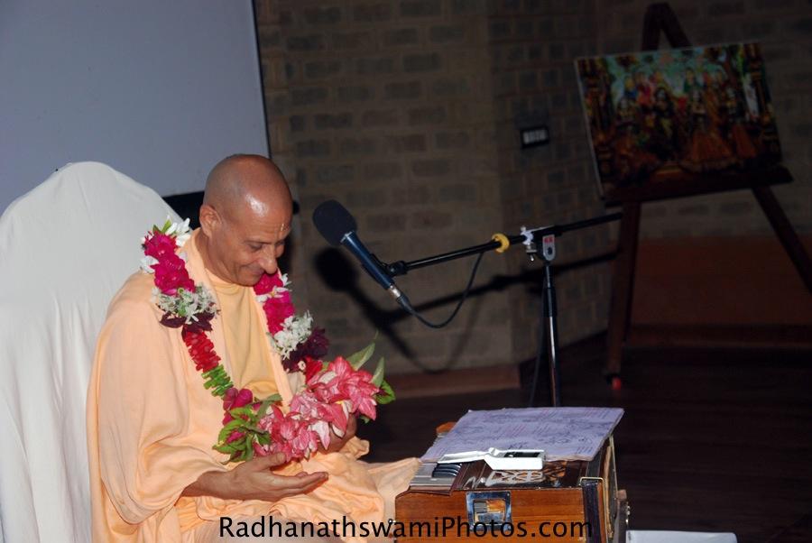 Talk by Radhanath Swami at GEV, Wada Farm
