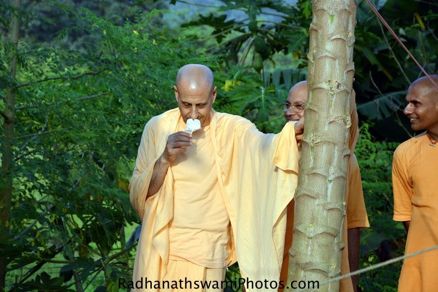 Radhanath Swami Maharaj at Gev, India