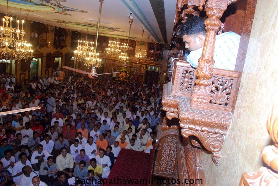 Radhanath Swami Maharaj at ISKCON Chowpatty, India