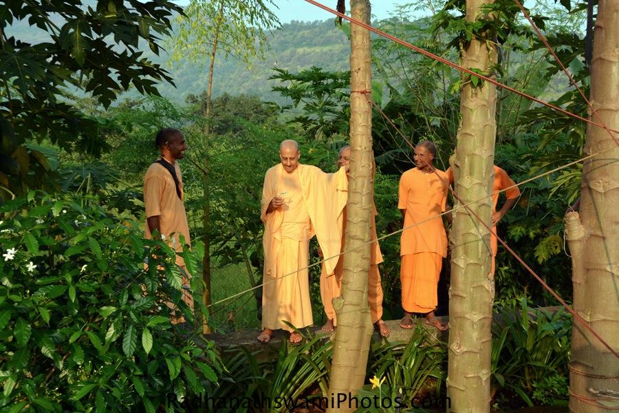 Radhanath Swami taking a tour at GEV