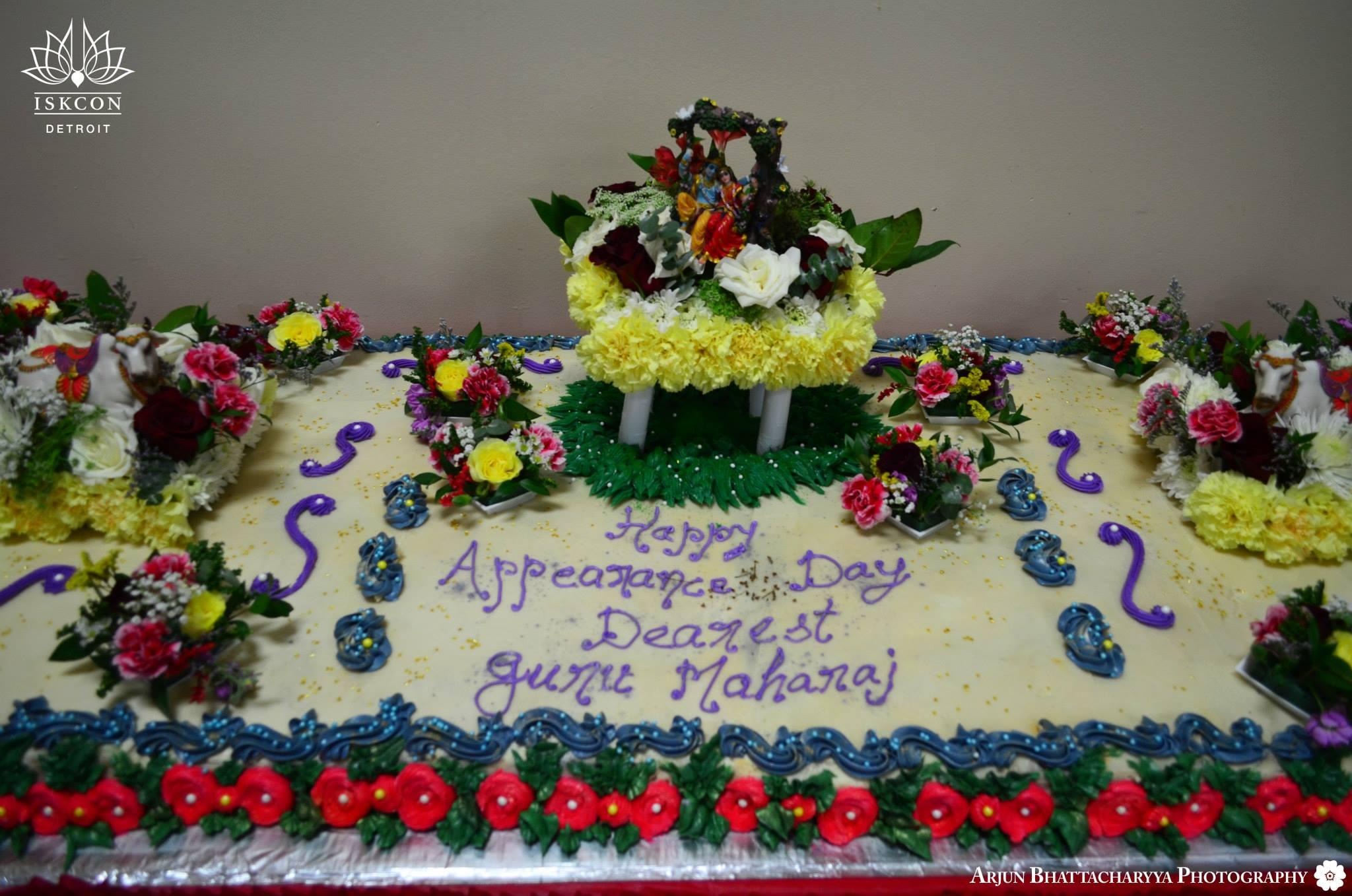 Cake for Radhanath Swami