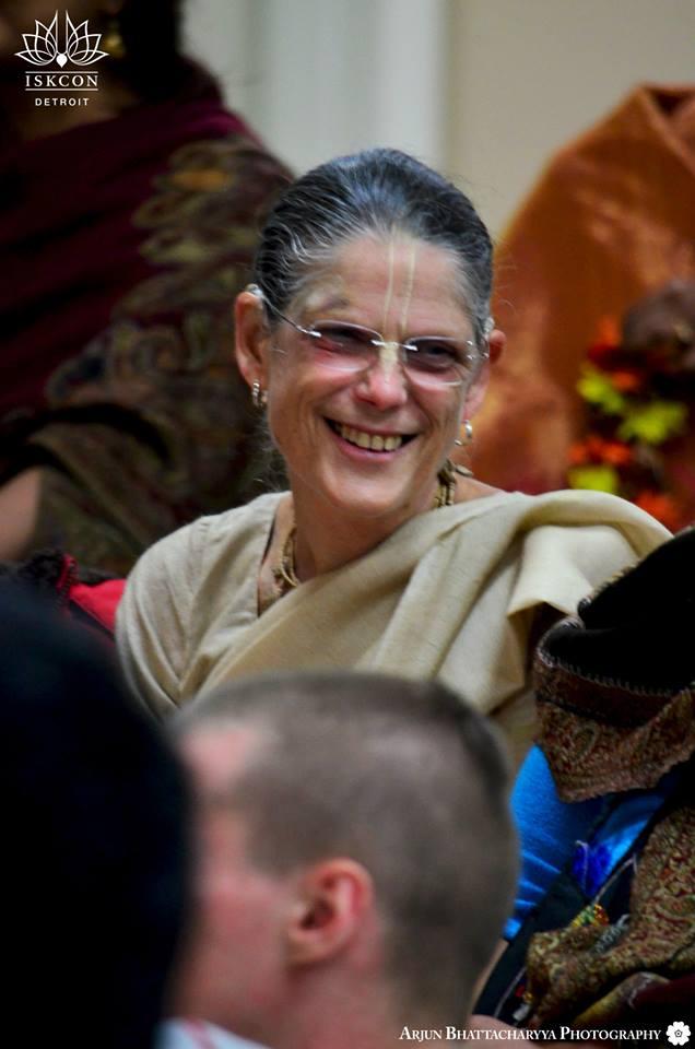 Malati Mataji at Radhanath Swami's Appearance day