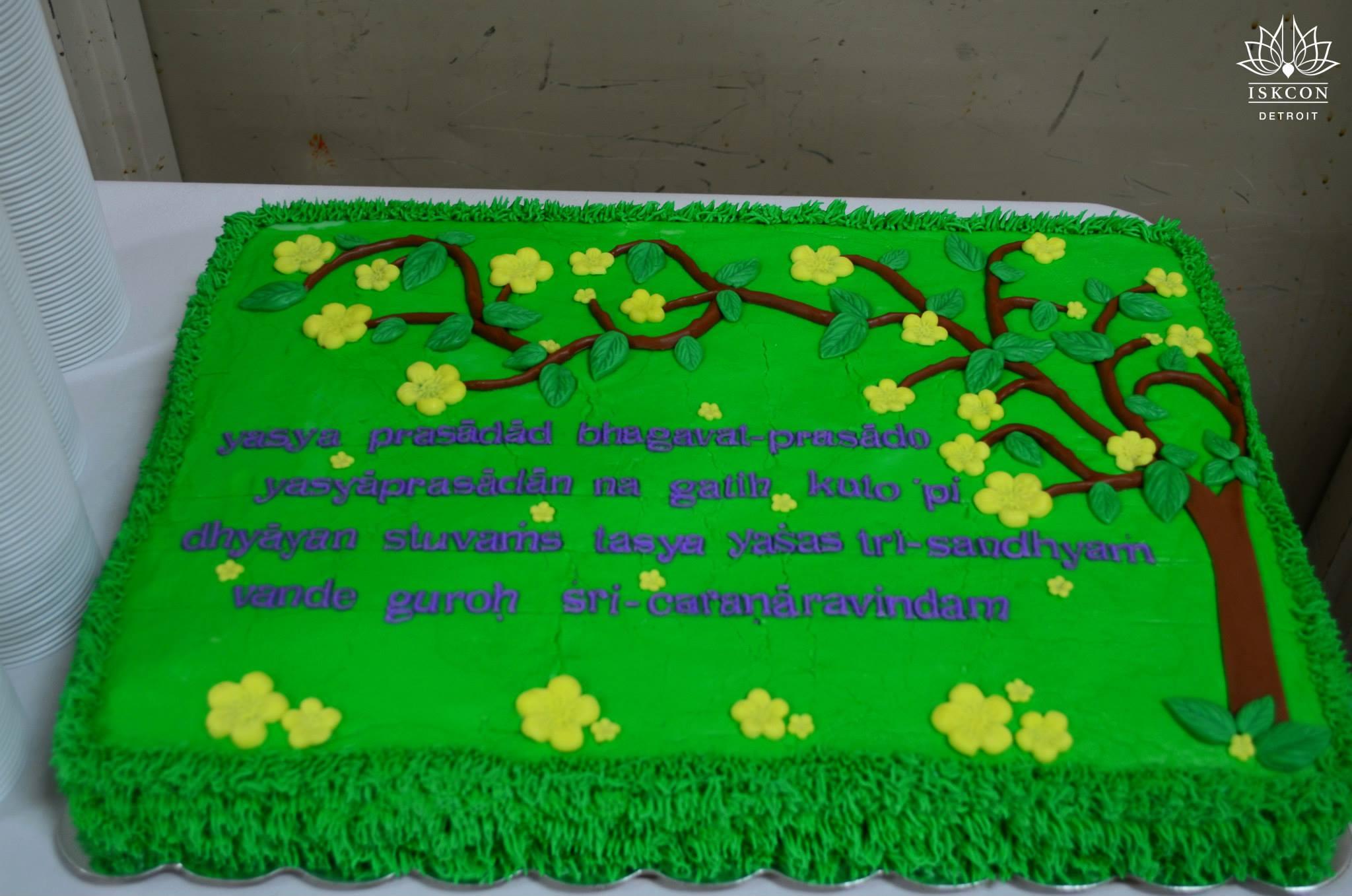 Radhanath Swami Cake