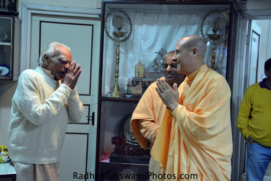 Radhanath Swami and BKS Iyengar