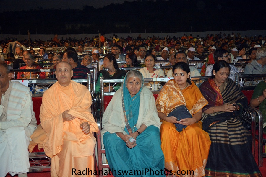 Radhanath Swami at audio book launch of JH