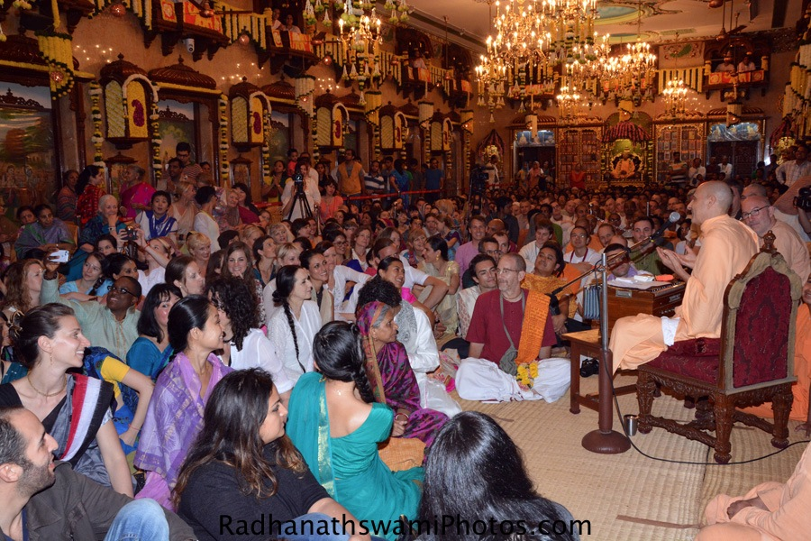 Talk by Radhanath Swami during pushya abhishek festival