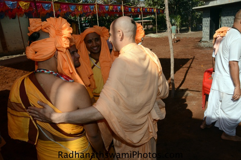 Radhanath Swami meeting Devotees at GEV