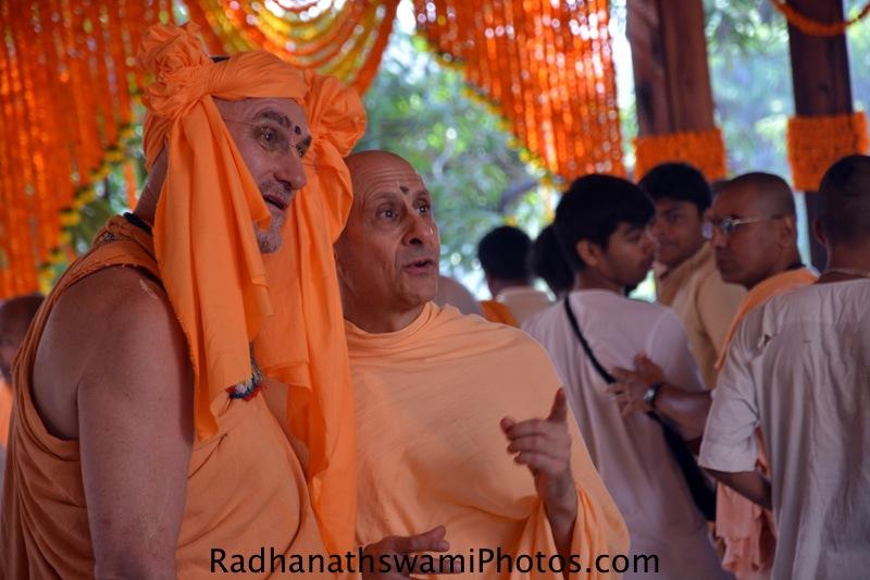 Radhanath Swami with Bhakti Vidyapurna Swami