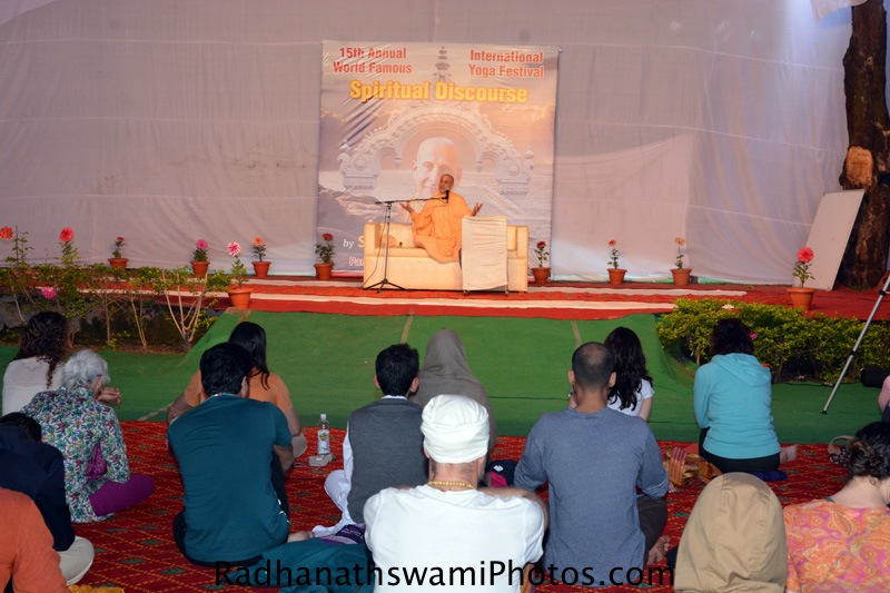 Talk by Radhanath Swami at International Yoga Festival, Rishikesh