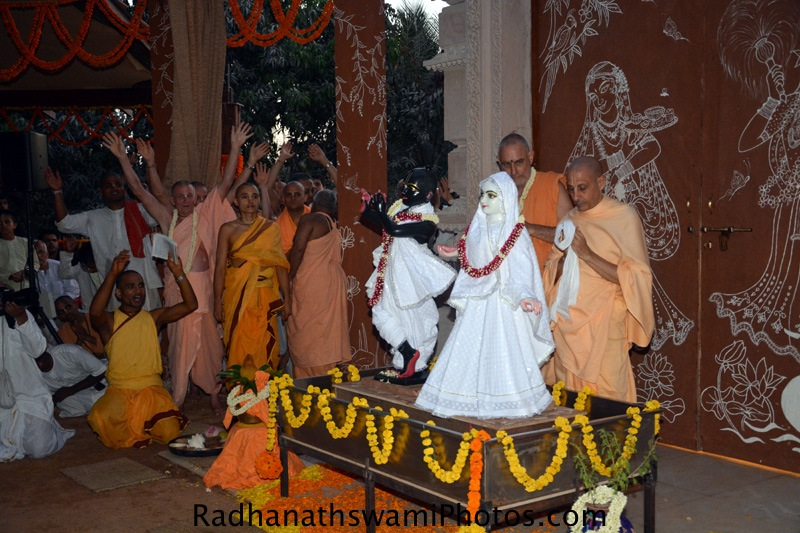First darshan of Radha vrindavanvihari