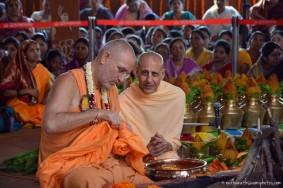 Radhanath Swami and Bhakti vidyapurna Swami