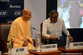 HH Radhanath Swami with Mr. Kishore Biyani