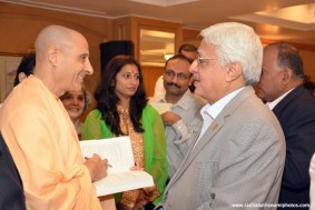 Radhanath Swami at Leadership and Management Event, Oberoi Hotel-Mumbai