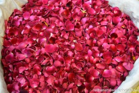 Baskets filled with flower petals for the festival - Radhanath Swami