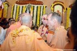Radhanath Swami during Pushya Abhishek festival at ISKCON Chowpatty