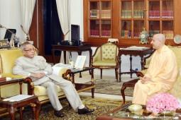 Radhanath Swami with President