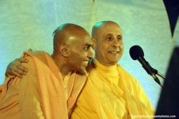 Radhanath Swami with Krishna Chaitanya Prabhu