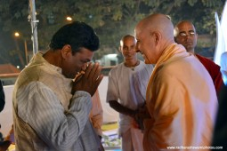 Radhanath Swami with Ramkumar Panda of Jagannath Puri